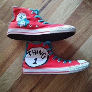 Chuck Taylor Dr. Seuss Thing 1 & Thing 2 high tops